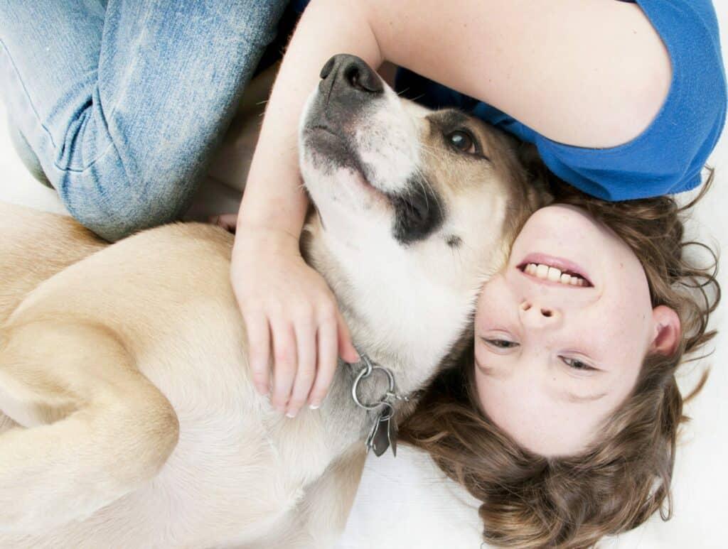 dog train girl and dog